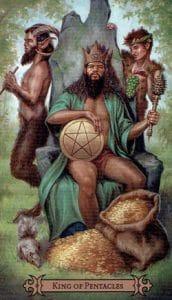 King of Pentacles Spellcaster Tarot