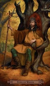 King of Wands Spellcaster Tarot