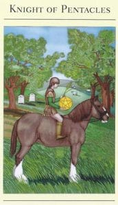 Knight of Pentacles Mythic Tarot