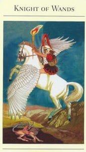 Knight of Wands Mythic Tarot