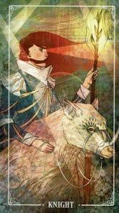 Knight of Wands Ostara Tarot