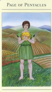 Page of Pentacles Mythic Tarot