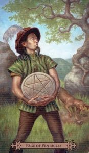 Page of Pentacles Spellcaster Tarot