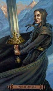 Page of Swords Spellcaster Tarot