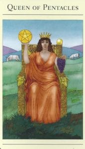 Queen of Pentacles Mythic Tarot