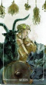 Queen of Pentacles Ostara Tarot
