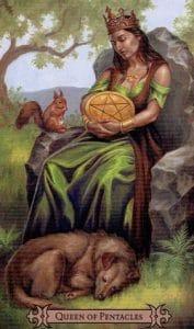 Queen of Pentacles Spellcaster Tarot