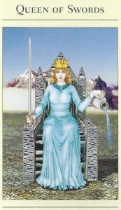 Queen of Swords Mythic Tarot