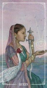 Queen of Swords Ostara Tarot