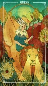 Queen of Wands Ostara Tarot