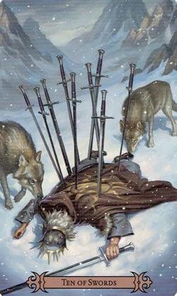 SCT 10 of Swords card