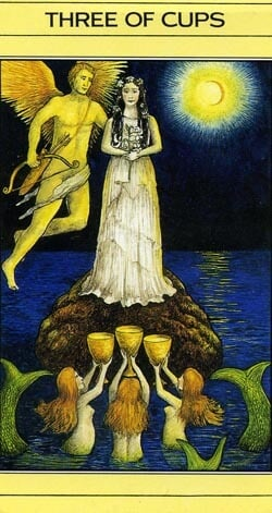 Mythic Tarot 3 of Cups 1986