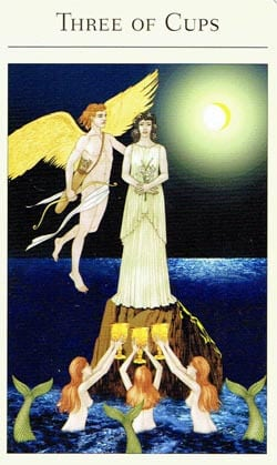 Mythic Tarot 3 of Cups 2011