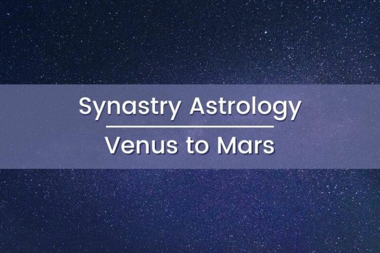 Synastry Astrology Venus to Mars