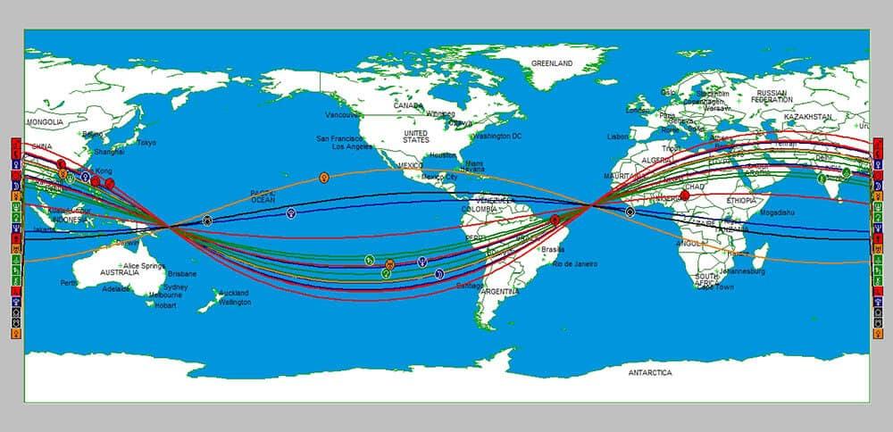 Person A&B Davison Map Locations