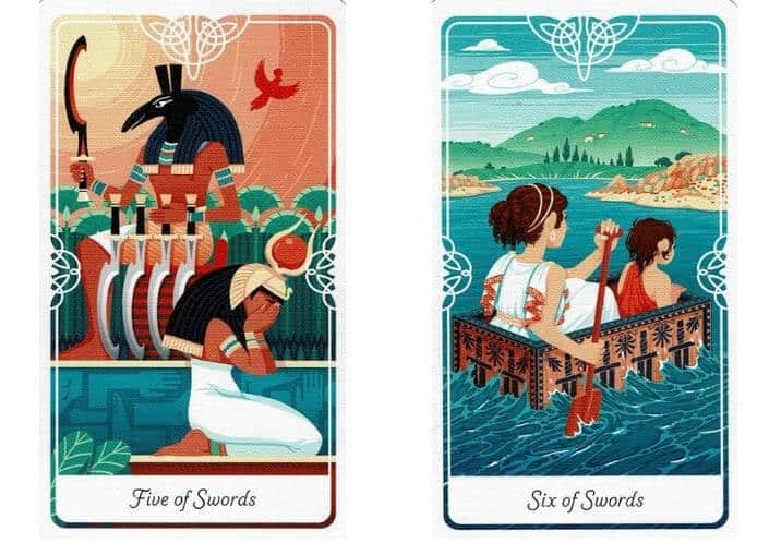 Tarot of the Divine 2 cards side-by-side