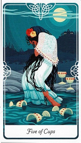 Tarot of the Divine 5 of Cups card