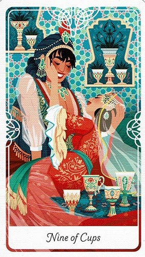 Tarot of the Divine 9 of Cups card