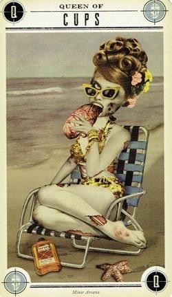 Zombie Tarot Queen of Cups card