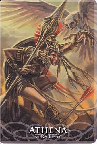 Goddesses Sirens Card Athena