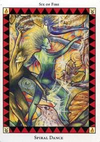 Wild Spirit Tarot Spiral Dance card